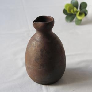 ◆丹波焼 焼締 渋くかっこいい器 2合徳利  丹波の赤土による焼き締め 色合いが美しいやきもの  釉...