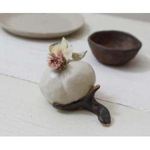 一輪挿し 花器 綿の花 花瓶 陶器 ドライフラワー nakanaka 51 おしゃれ|cayest