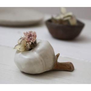 一輪挿し 花器 綿の花 花瓶 陶器 おしゃれ ドライフラワー nakanaka53|cayest