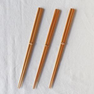 竹箸 ダイヤカット 無地 22.5cm 細め お箸 日本製 国産孟宗竹|cayest