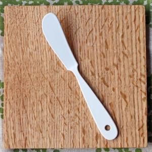 ホーローバターナイフ 琺瑯 カトラリー ナイフ 白 かわいい 日本製|cayest