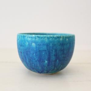 ターコイズ カップ 青 湯呑 スモールカップ 陶器 涼やか かわいい おしゃれ|cayest