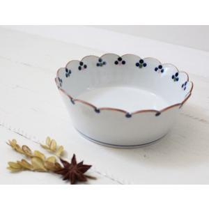 花びら小鉢 鉢 ボウル 梅の花 京都染付 中鉢 磁器 和食器|cayest
