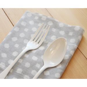 琺瑯 白 デザートスプーン デザートフォーク 18.5cm 日本製 ホーロー カトラリー かわいい|cayest