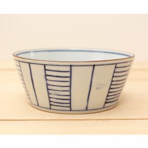 小鉢 はしご ストライプ 鉢 ボウル 和食器 京都染付 日本製|cayest