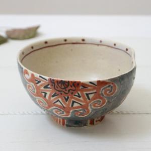 モダンアート うどん鉢 小丼 鉢 丼 廣川みのり 絵付け 陶器 和食器|cayest