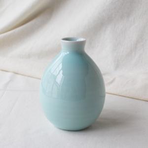 青磁 水色 丸み 徳利 2合 350cc 涼やか とっくり シンプル おしゃれ 酒器 陶器 cayest