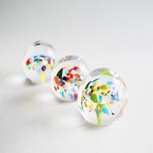 ペーパーウェイト ガラス 文鎮 吹きガラス 手作り tonari|cayest