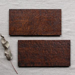 木製プレート 長方形 拭漆 甲斐幸太郎 チェリー/ホワイトオーク コースタートレイ ロング
