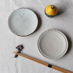 小皿 豆皿 粉引/キセト お醤油皿 丸皿 11cm 和食器 信楽焼|cayest