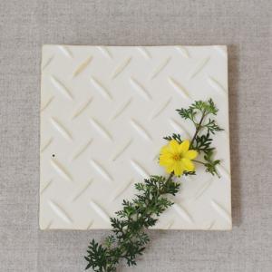 縞陶板 プレート 角皿 三宅直子 16cm 正方形 陶器 和食器 おしゃれ|cayest