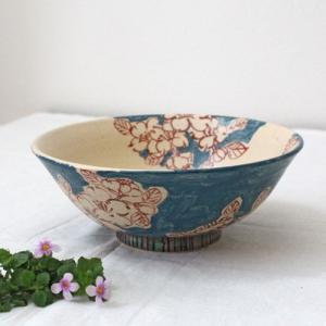 山茶花 さざんかどんぶり 浅鉢 多様丼 廣川みのり 水色 華やか 和食器|cayest