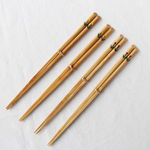 竹箸 チューリップ 23.5cm 大人用 赤/黄 かわいい お箸 国産孟宗竹 日本製|cayest