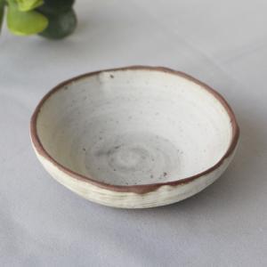 焼締 小皿 丸型 白化粧 丹波焼 醤油皿 豆皿 ほっこり 素朴 かわいい 和食器|cayest