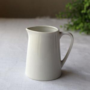 クリーマー 白 無地 ミルクピッチャー 陶器 片口 かわいい シンプル|cayest