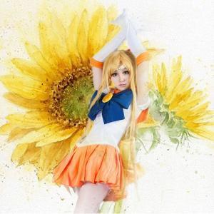 美少女戦士セーラームーン風/愛野美奈子/コスプレ/ハロウィーン/f401|cbcteashop