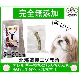 【鹿角】15〜20cm【犬のおやつ 無添加】【犬のおやつ 鹿角】【犬のおやつ アレルギー】完全無添加  北海道産 エゾ鹿 天然|cbdog