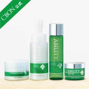 シーボン.公式 アビリティ トータルセット クレンジング 洗顔 化粧水 ジェルクリーム 4点セット ...