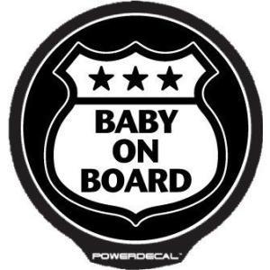 配線不要! パワーデカール ルート66 Baby On Board Route66 赤ちゃんが乗っています 光るLEDデカール|cbparts