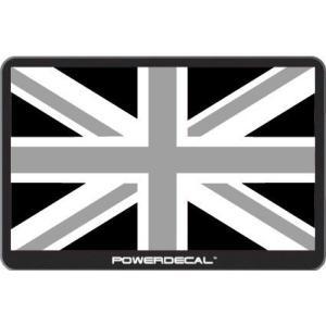 配線不要! パワーデカール ブラック ユニオンジャック イギリス国旗 光るLEDデカール LED電子ステッカー Powerdecal BLACK Union Jack|cbparts