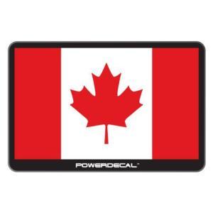 配線不要! パワーデカール カナダ国旗 光るLEDデカール LED電子ステッカー Powerdecal CANADA Canadian Flag|cbparts