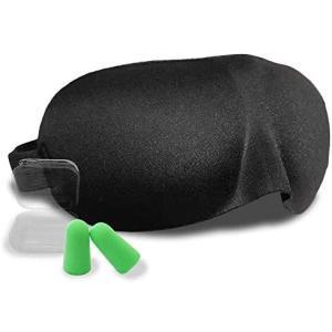 L-park アイマスク 立体型 安眠 遮光 圧迫感が無く化粧崩れしない【天使のアイマスク】耳栓 付き|cc2021