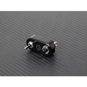 マイクロ ハンドルスイッチ 2WAY ブラック 22.2mm用 ミニスイッチ カフェレーサー チョッ...