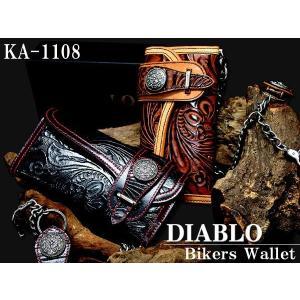 DIABLO ディアブロ 男性用 長財布 ブランド バッファローレザー メンズ本革 ka1108 牛革 ロングウォレット 送料無料 cccstores