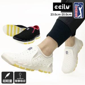 コンフォートシューズ スリッポン レディース メッシュ チルセル ホワイト 白 ブラック 黒 シューズ 靴 ccilu|ccilu