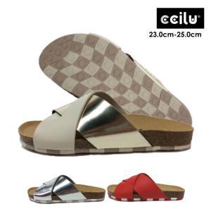 サンダル レディース 夏 履きやすい 痛くない 歩きやすい チル ccilu korsa  クロスベルト つっかけ コルク リカバリー 水陸両用|ccilu