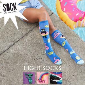 Sock It To Me ソック イット トゥ ミー ハイソックス レディース 靴下  総柄|ccilu
