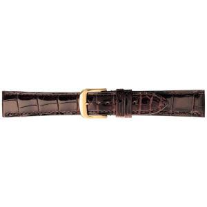 (代引不可)BAMBI バンビ 時計バンド グレーシャス ワニ革(クロコダイル) チョコ BWA005B-P|ccnshop