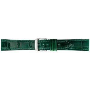 (代引不可)BAMBI バンビ 時計バンド グレーシャス ワニ革(クロコダイル) グリーン BWA005MP|ccnshop