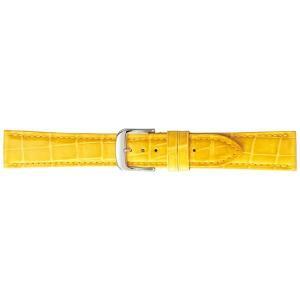 (代引不可)BAMBI バンビ 時計バンド グレーシャス ワニ革(クロコダイル) イエロー BWA005Y-S|ccnshop