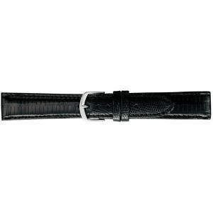(代引不可)BAMBI バンビ 時計バンド グレーシャス トカゲ革(テジュー) 黒 BAA005AP|ccnshop