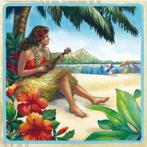 1枚バラ売り25cmペーパーナプキン アイランドヘリテージ ISLAND HERITAGE ハワイ Hawaii ヴィンテージハワイ Vintage Hawaii 紙コースター デコパージュ|ccpopo