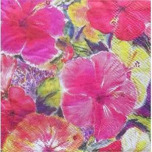 1枚バラ売り25cmペーパーナプキン アイランドヘリテージ ISLAND HERITAGE ハワイ Hawaii ハイビスカスインプレッション Hibiscus Impressions|ccpopo