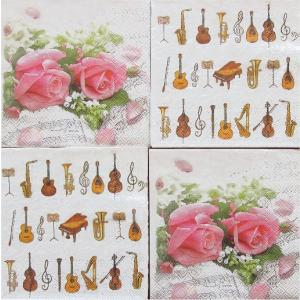 25cmペーパーナプキン4枚セット オリジナルアソート HOME FASHION Flower Symphony & Ambiente オーケストラ 紙コースター デコパージュ ドリパージュ ccpopo