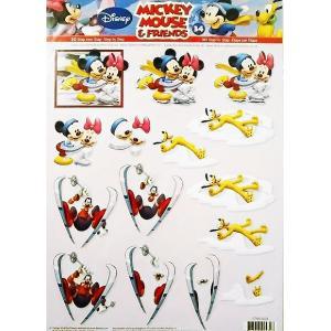 ディズニースペシャル Walt Disney Special 3Dデコパージュシート ディズニー Disneyミッキーマウス ミニーマウス No.34 スクラップブッキング カード作り|ccpopo