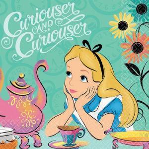 1枚バラ売りペーパーナプキン  不思議の国のアリス ALICE IN WONDERLAND Disney ディズニー アメリカ製 MADE IN USA 紙ナフキン|ccpopo