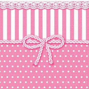 1枚バラ売りペーパーナプキン Ambiente オランダ リボン ピンク BOW ROSE 13307952 デコパージュ ドリパージュ|ccpopo