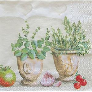 1枚バラ売りペーパーナプキン Ambiente オランダ ハーブキッチン Herbs Kitchen 13309160 デコパージュ ドリパージュ|ccpopo