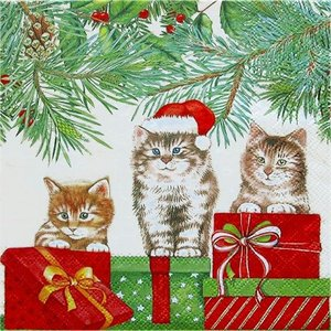 1枚バラ売りペーパーナプキン 3匹の猫 Three Cats 33311035 デコパージュ ドリパージュ|ccpopo