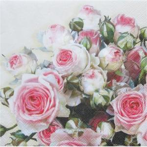 Ambiente オランダ ペーパーナプキン MAXIMA CREAM 13305155 バラ売り2枚1セット デコパージュ