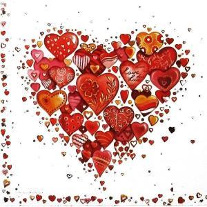 Ambiente オランダ ペーパーナプキン With Love White 13305870 バラ売り2枚1セット デコパージュ ドリパージュ|ccpopo