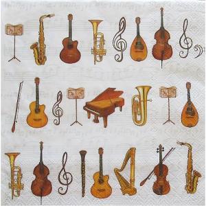 Ambiente オランダ ペーパーナプキン オーケストラ 音楽 楽器 楽譜 ORCHESTRA 13306280 バラ売り2枚1セット デコパージュ ドリパージュ ccpopo