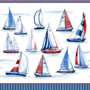 Ambiente オランダ ペーパーナプキン セーリング ヨット 海 Sailing 13307480 バラ売り2枚1セット デコパージュ ドリパージュ|ccpopo