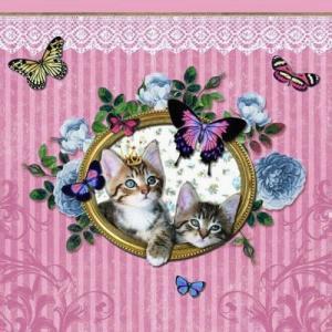 Ambiente オランダ ペーパーナプキン ローヤルキャット ROYAL CATS 13307930 バラ売り2枚1セット デコパージュ ドリパージュ|ccpopo