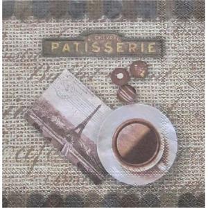 Ambiente オランダ ペーパーナプキン コーヒーノスタルジック COFFEE NOSTALGIC 13307940 バラ売り2枚1セット デコパージュ ドリパージュ|ccpopo