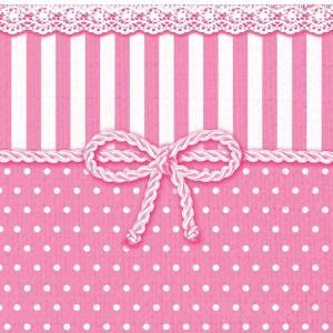 Ambiente オランダ ペーパーナプキン リボン ピンク BOW ROSE 13307952 バラ売り2枚1セット デコパージュ ドリパージュ|ccpopo